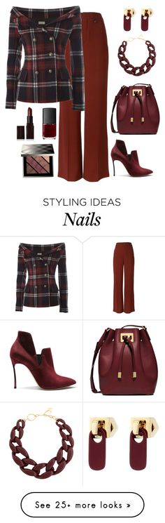 """""""How Fitting"""" by nayla-darkstone on Polyvore featuring Chloé, Faith Connexion, Casadei, Michael Kors, DIANA BROUSSARD, Marc by Marc Jacobs, Laura Mercier, NARS Cosmetics and Burberry"""