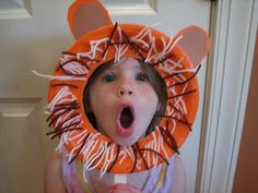 hilarious lion paper plate mask