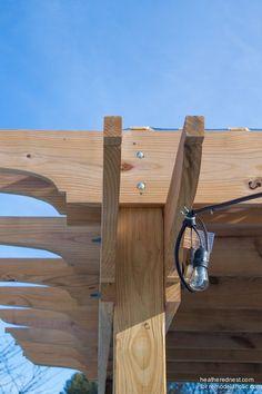 How to build a DIY pergola, tutorial www.heatherednest.com for remodelaholic.com