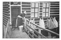 Wash Day in Volendam, Holland (1906) #NoordHolland #Volendam