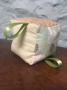 A personal favorite from my Etsy shop https://www.etsy.com/listing/496397390/green-leafy-soft-baby-blocks-sensory-toy