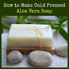 Learn how to make cold pressed soap safely and easily using common ingredients plus gel from the Aloe Vera plant. How to Make Cold Pressed Vegan Aloe Vera Soap | Backdoor Survival