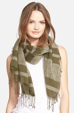 Madewell 'Machu Picchu' Stripe Scarf available at #Nordstrom