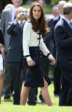 Catherine, Duchess of Cambridge attends a official visit to Bletchley Park on June 18, 2014