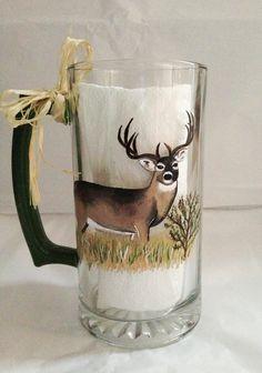 Hand painted beer mug. By Samantha Blair