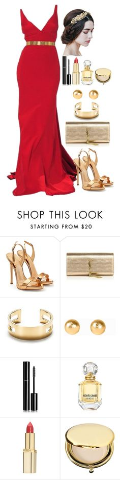 """""""Untitled #3884"""" by natalyasidunova ❤ liked on Polyvore featuring Giuseppe Zanotti, Yves Saint Laurent, Tiffany & Co., Snö Of Sweden, Chanel, Roberto Cavalli, L'Oréal Paris and Estée Lauder"""