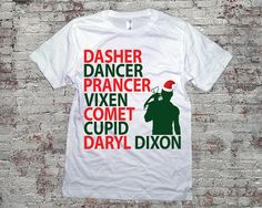 I WANT THIS TOO SANTA!!!! Reindeer Names Daryl Dixon Christmas TWD Shirt Daryl by topclick, $18.99