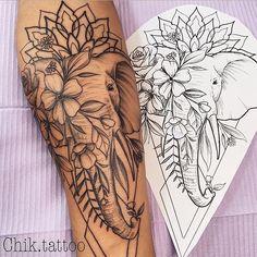 Dope Tattoos, Hip Tattoos Women, Body Art Tattoos, Half Sleeve Tattoos For Women, Tatoos, Women Sleeve, Tattoo Drawings, Tribal Tattoos, Mandala Tattoos For Women