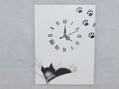 decoupage czarny kot - Szukaj w Google