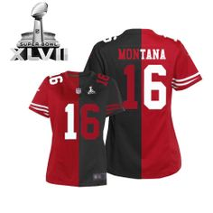 womens nike san francisco 49ers 16 joe montana limited team alternate two tone super bowl