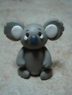 Koala Clay Figurine by ClayCreationsbyLaura on Etsy, $8.00