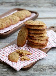 Sukkerfri, sprø havreflarn - LINDASTUHAUG Paleo, Keto, Snacks, Grain Free, Food And Drink, Sweets, Cookies, Baking, Desserts