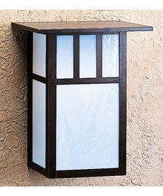 Shown in Bronze finish, White Opalescent glass and Double T-Bar accent