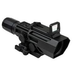 ADO Scope, Sniper Reticle with Flip Up Red Dot Optic, BlackManufacture ID: Dual Optic (ADO) variable magnification scope wit Rifles, Ar Rifle, Rifle Scope, Red Dot Sight, Shooting Guns, Shooting Sports, Concept Weapons, Assault Rifle, Guns And Ammo