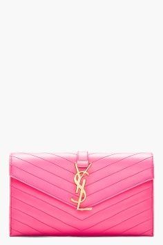 hot pink quilted leather envelope clutch