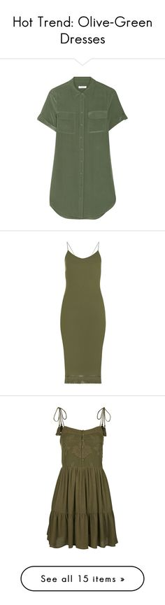 """Hot Trend: Olive-Green Dresses"" by polyvore-editorial ❤ liked on Polyvore"