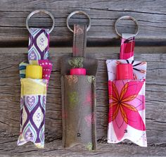 """I have been playing, trying to make a """"usable"""" lip balm holder. Something that I can attach to my bag or keyringso that I am not al..."""