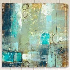 I like this. Wish wasn't a mass produced piece. Need more abstract art, maybe I could make something like it. Like encaustic.