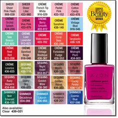 1000 Images About Avon Nail Polish Etc On Pinterest Avon Nail Studio And Enamels