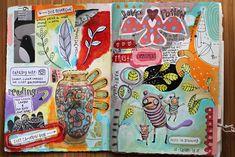 Art journaling techniques by Michelle Allen