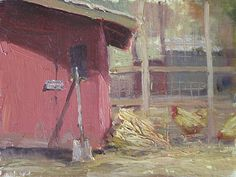 Chores by Kathleen Dunphy Oil ~ 6 x 8