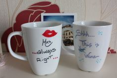Mrs Always Right Shh..this is NOT wine! #mug #tazza #cup #tazzina #caffe #te #tea #coffee #breakfast #colazione #regalo #gift #perlei #perlui #forher #forhim #etsy #shopping #home #casa #cucina #kitchen #decor #homemade #personalised #handwritten #amano #personalizzato #DIY