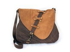 Nubuck leather large shoulder bag by NijaDesign on Etsy