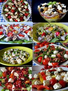 Sałatki na imprezę Appetizer Recipes, Salad Recipes, Healthy Snacks, Healthy Recipes, Food Photo, Food Inspiration, Fruits And Veggies, Vegetables, Food And Drink
