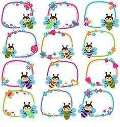 Más Más Kindergarten Portfolio, In Kindergarten, Classroom Board, Classroom Decor, Boarders And Frames, Page Borders Design, School Frame, School Labels, Baby Clip Art