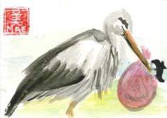 stork baby japanese drawing - Google zoeken