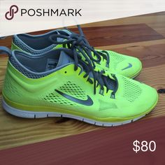 Nike Free TR FIT 4 Neon Yellow -barely worn (wrong size for me) Nike Shoes Athletic Shoes
