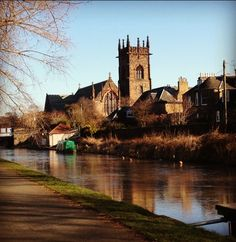 Polwarth Church along the canal  in Edinburgh by Kirsty Hope
