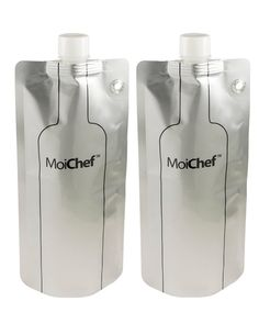 MoiChef Collapsible/Foldable Wine Bottle (2 Bottles) - great for picnics, camping, hiking, concerts, tailgating!