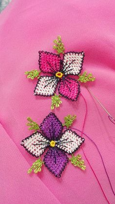 This Pin was discovered by Gül Needle Lace, Needle And Thread, Craft Stick Crafts, Diy And Crafts, Polymer Clay Canes, Sewing Tools, Science For Kids, Filet Crochet, Canvas Patterns