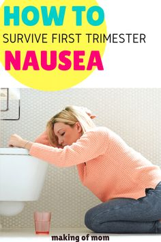 First trimester nausea (morning sickness) is a real pain. If you're constantly feeling nauseous try these home remedies! Happy Pregnancy, Pregnancy Care, First Pregnancy, Pregnancy Workout, Molar Pregnancy, Ectopic Pregnancy, Pregnancy Belly, Morning Sickness Symptoms