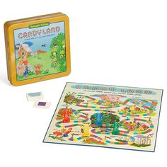 Candy Land Nostalgia Edition Board Game - Everything you remember of your favorite board game is included in this limited Nostalgia Edition of the classic Candy Land Board Game. Featuring the charming and colorful 1962 graphics, vintage components, and a collectible storage tin. Candyland Board Game, Classic Candy, Graphics Vintage, Card Storage, Candy Land, Game Pieces, Gingerbread Man, Your Favorite, Board Games