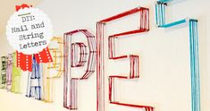 just keep it simple: DIY: Nail and String Letters