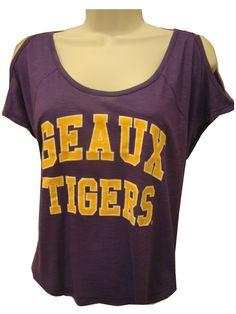 Stadium Chic LSU Tigers Womens Purpcle Diane Top - LSU Womens Apparel -  PURPLE AND GOLD SPORTS f38e84256