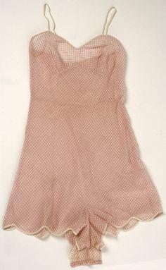 Gingham Lingerie, Henri Bendel (American, founded 1895): ca. 1950's, American, cotton, silk. henri bendel, bendel american, gingham lingeri