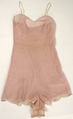 Gingham Lingerie, Henri Bendel (American, founded 1895): ca. 1950's, American, cotton, silk.