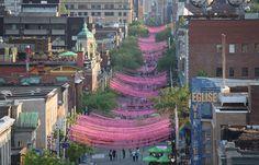 Pink Balls of Aires Libres - Montreal by Claude Cormier, Landscape Architect Montreal Ville, Of Montreal, Urban Landscape, Landscape Design, Wanderlust, Belle Villa, Parcs, Urban Planning, Land Art