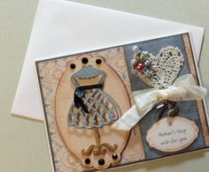 Shabby Chic Fashionista Mother's Day Card by YourCardConnection, $6.50