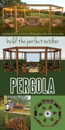 DIY Amazing Pergola und Feuerstelle mit Schaukeln - #Amazing #DIY #Feuerstelle #mit #Pergola #Schaukeln #und