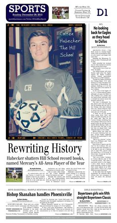 Records are no match for the Hill's Colton Habecker, who was named the 2013 Fall All Area Basketball Player of the Year. http://www.gametimepa.com/berks/ci_24809602/boys-soccer-habecker-makes-hill-history-named-all