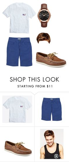 """preppy"" by rylieelder ❤ liked on Polyvore featuring CAbi, Sperry, Toni&Guy, Michael Kors, men's fashion and menswear"