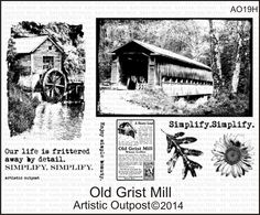 Stamps - Artistic Outpost Old Grist Mill