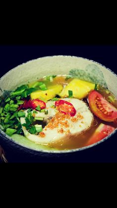 Vietnamese food  Canh chua : Sweet and sour fish broth