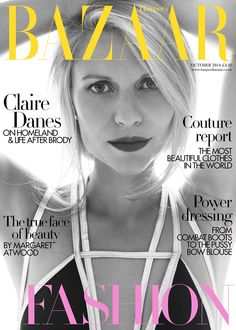awesome Harper's Bazaar UK October 2014 | Claire Danes by Alexi Lubormirski  [Cover]