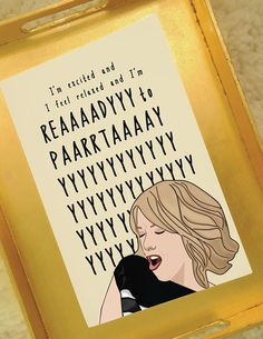 Ready to Party #2   Bridesmaids Movie   Celebration Cards   Birthday Cards   Congratulation Cards   Instant Download