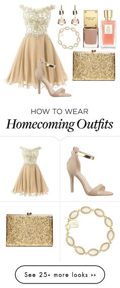"""Homecoming #1"" by wikiheart on Polyvore featuring Kendra Scott and Lancôme"